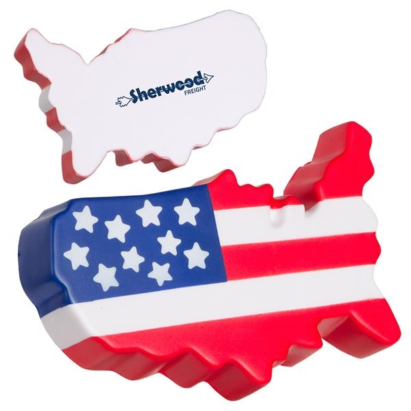 Customized USA Map Stress Reliever