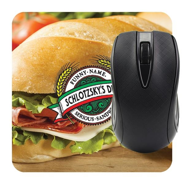 Square mouse pad printed