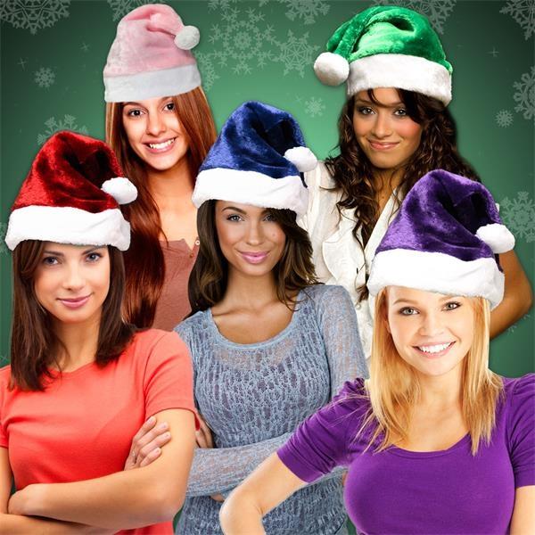 Plush Santa hats with