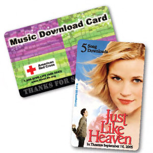 1-song download gift card
