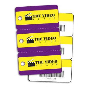 Plastic key tag combo