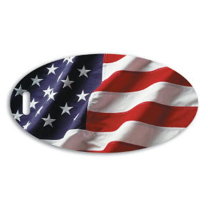 American flag oval golf