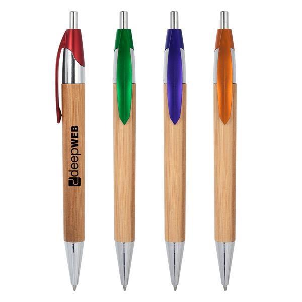 Atticus Bamboo Pen. Plunger