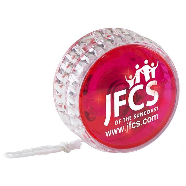 Red yo-yo with LED