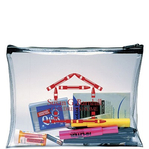 Economical briefcase, clear vinyl