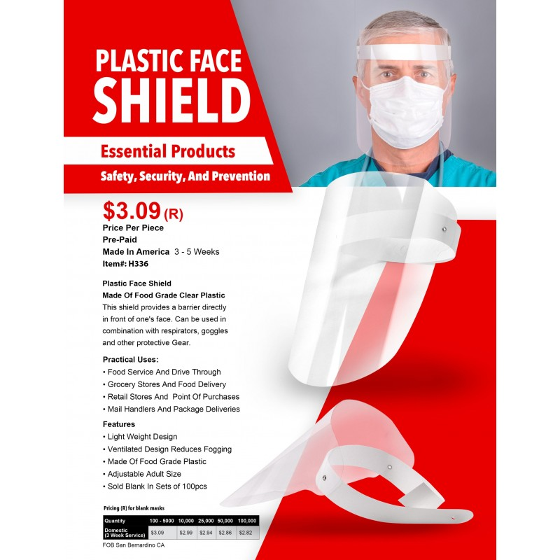 Plastic Face Shield Made