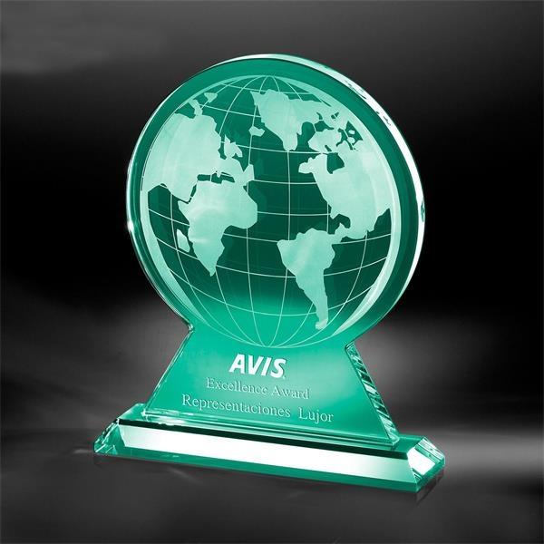 Jade glass globe award.