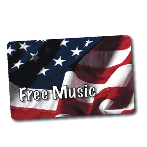 Promotional Music Download Cards-MUSIC-AF-B-01