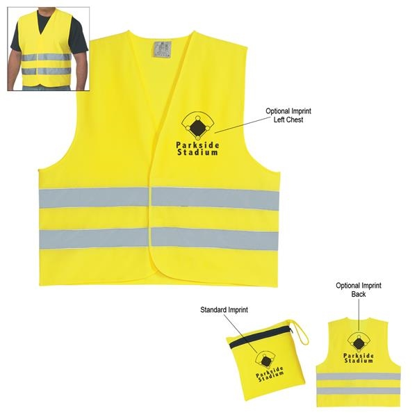 Reflective vest with zippered