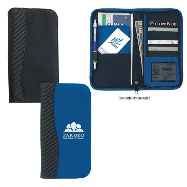 Microfiber travel wallet with