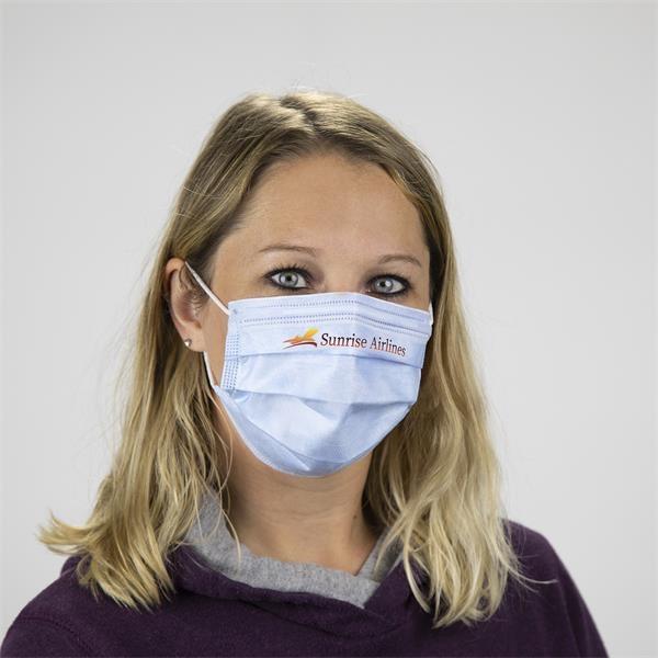 Disposable non-woven face masks