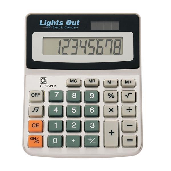 Solar calculator with 8