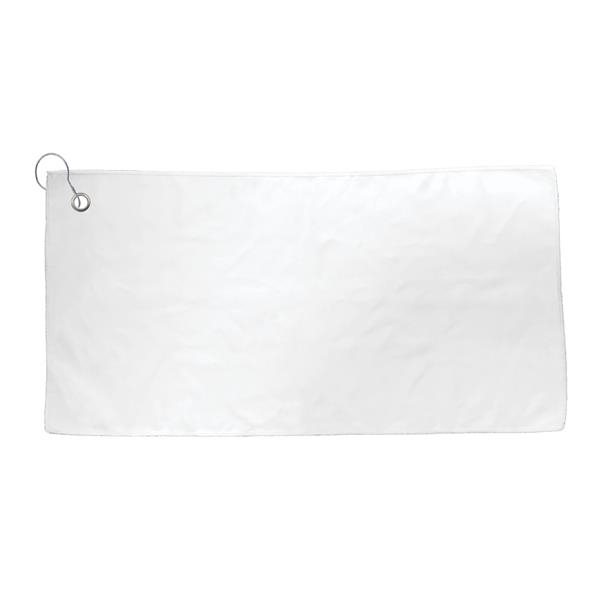 Golf towel printed with