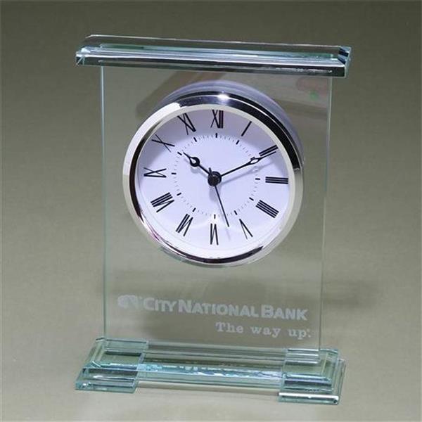 Award clock with jade