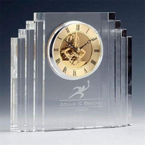 Optical crystal mantel clock