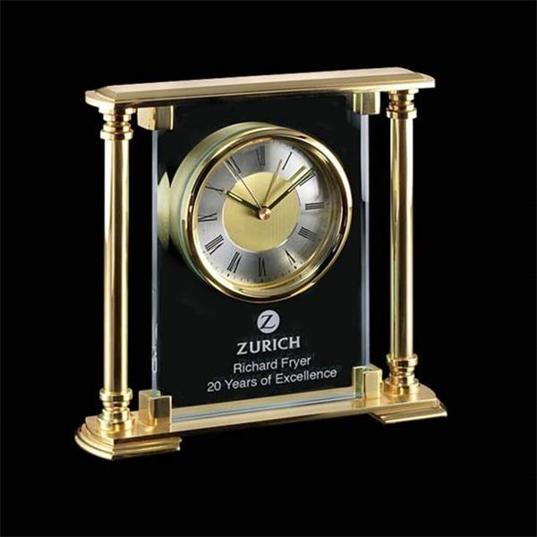 Mantle clock with modern