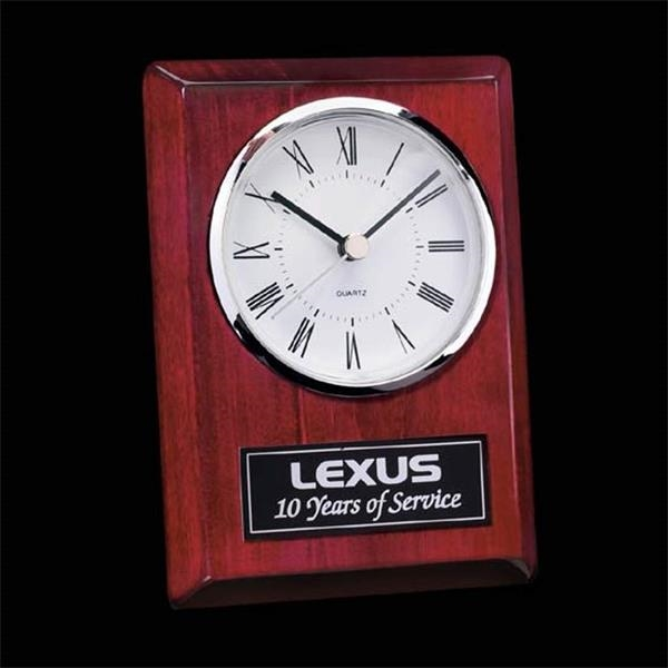 Rectangular rosewood clock with