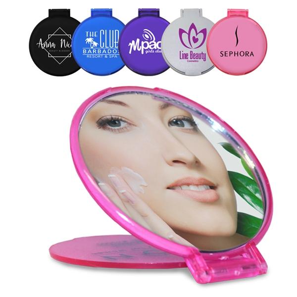 Compact size round mirror