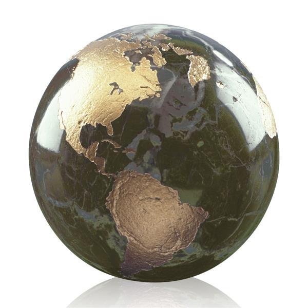 Gold filled globe award
