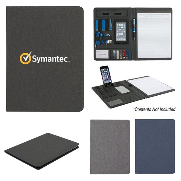 Polyester heather padfolio with