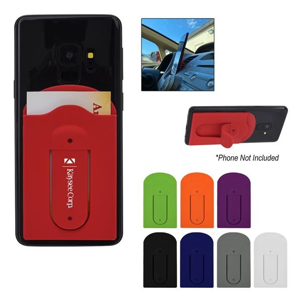 Silicone phone wallet that