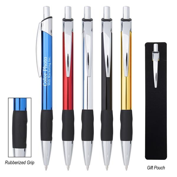 Aluminum pen with plunger