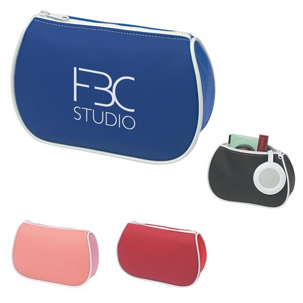 Amenities bag with mirror.