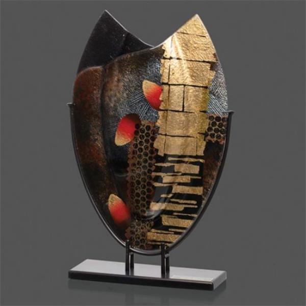 Art glass - Oval