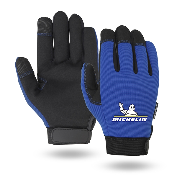 Mechanics gloves, black synthetic