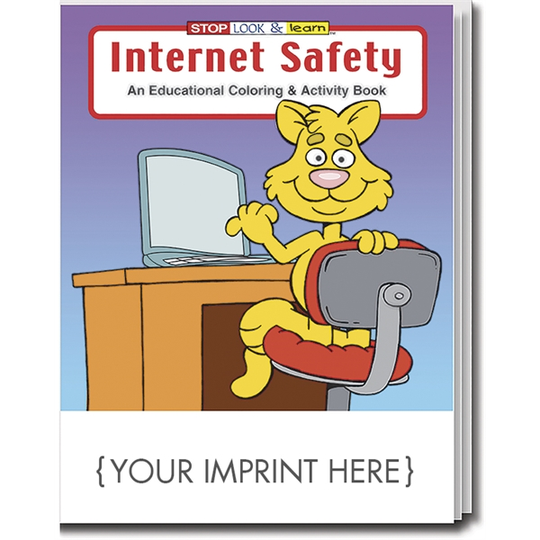 Internet Safety educational coloring