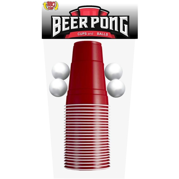 Beer pong set with