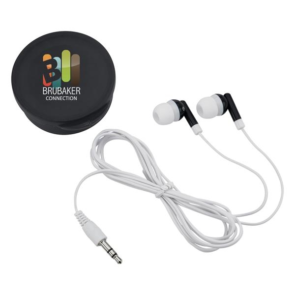Earbuds in a case