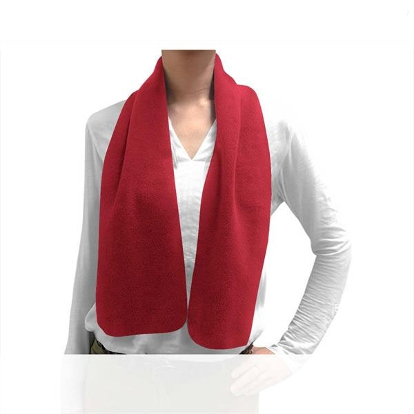 Lightweight microfleece scarf made