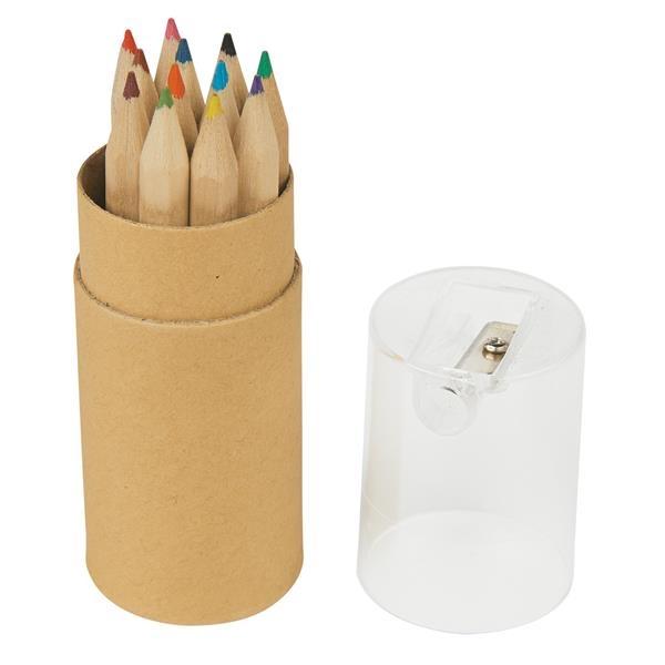 12-Piece colored pencil tube