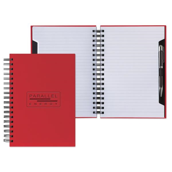 Mid-size wire-bound journal with