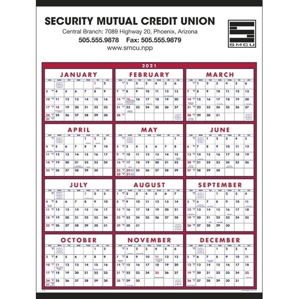 Span-A-Year 2021 Calendar. Choose