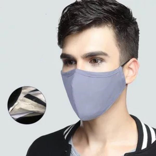 Grey cotton protective and