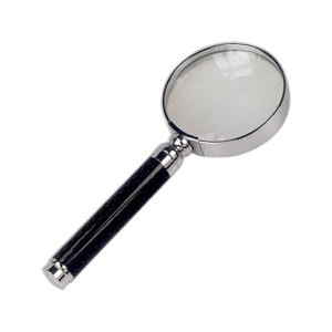 Magnifying glass in silver/chrome