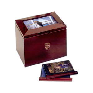 Wooden photo album box