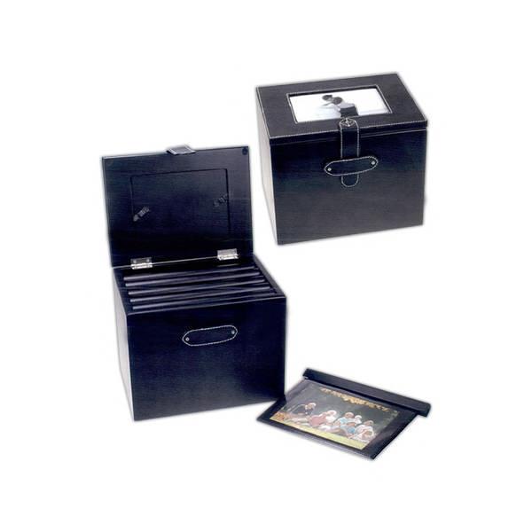 Black photo album box,
