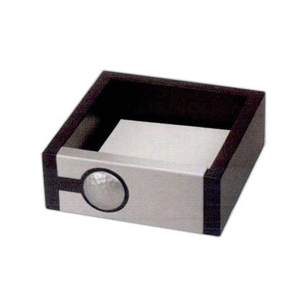 Wooden memo paper holder.