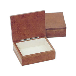 Burlwood finish box with