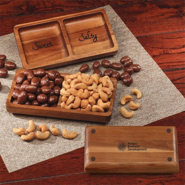Acacia tray filled with