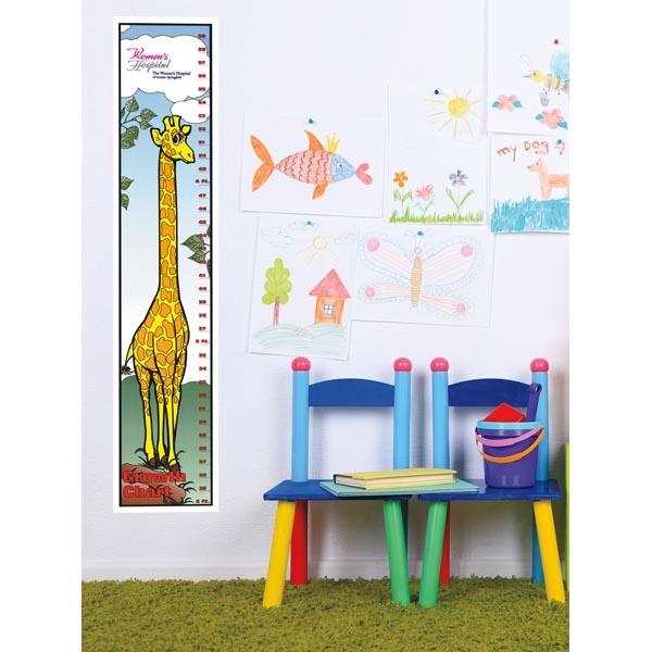Growth chart with giraffe
