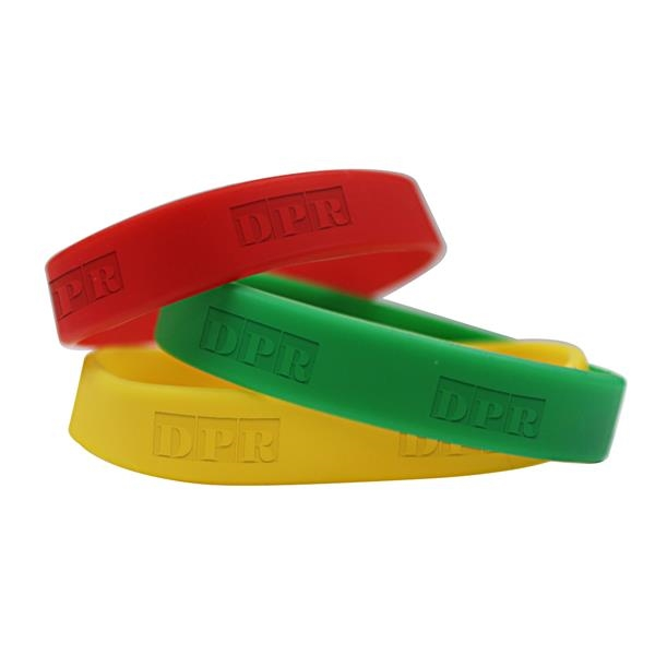 Wristbands made of silicone