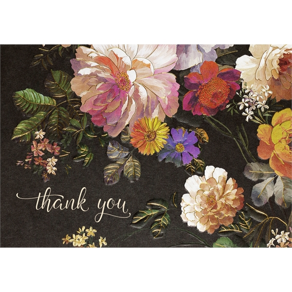 Midnight floral thank you