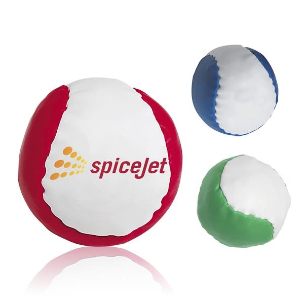 Leatherette ball filled with