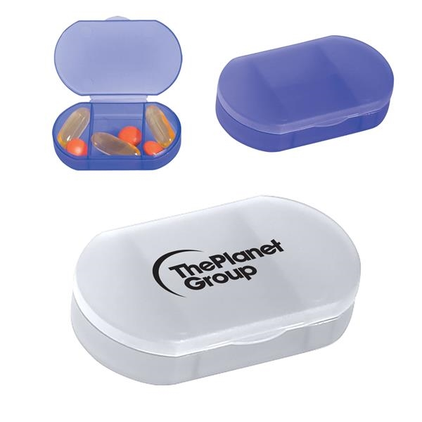 Oval Shape Pill Holder.