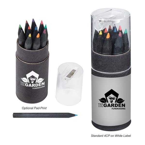 12 colored pencils in