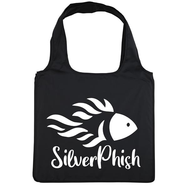 Polyester tote.